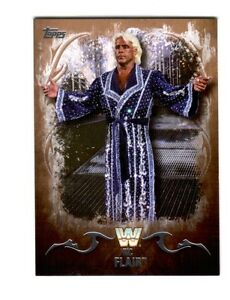 WWE-Ric-Flair-81-2016-Topps-Undisputed-Bronze-Parallel-Card-SN-42-of-99