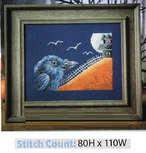 CROSS  STITCH PATTERN ONLY HALLOWEEN WELCOME BANNER ZA HEV