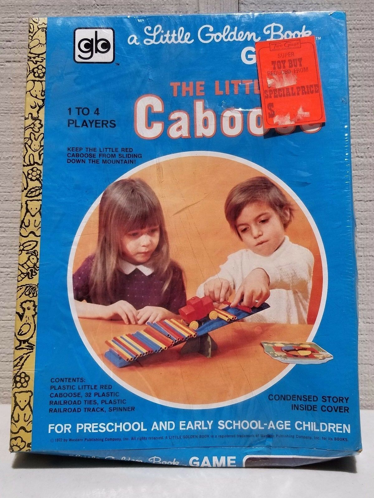 NOS VINTAGE THE LITTLE RED CABOOSE LITTLE goldEN BOOK TOY SEALED NEW