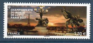 TIMBRE 5165 NEUF XX LUXE - CHAMPIONNAT DU MONDE DE LUTTE - TOUR EIFFEL