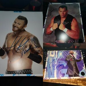 WWE Autographs Heath Slater, Dean Malenko, Teddy Long PWC Exclusives