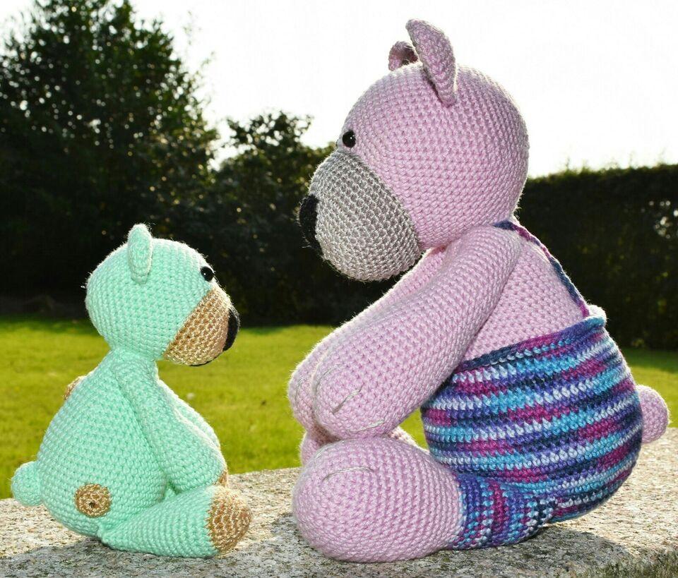 Hæklede bamser og mini-bamser, håndværk
