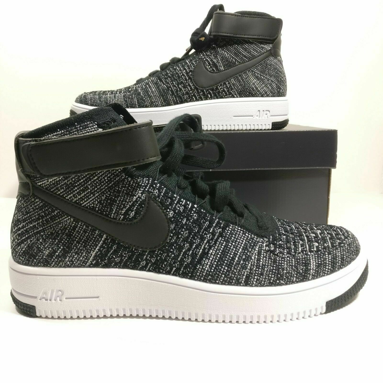 Nike Air Force 1 Ultra Flyknit Mid Oreo Men's shoes's ( 817420-004 ) Size 14