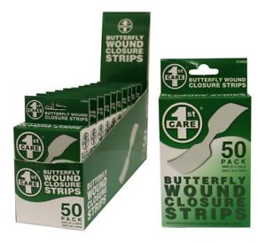 50x-Bandages-Butterfly-Wound-Closure-Strips-FIRST-AID-STERILE-SKIN-MULTI-STRIPS