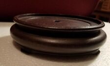 Vintage Chinese Rose Wood Round Footed Vase Stand