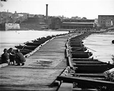 New 8x10 Civil War Photo: Pontoon Bridge in Petersburg, Virginia - 1865