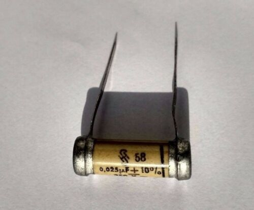 One SIEMENS /& HALSKE 0.025 UF 250 V papier Condensateur New Old Stock Inutilisé Condensateur