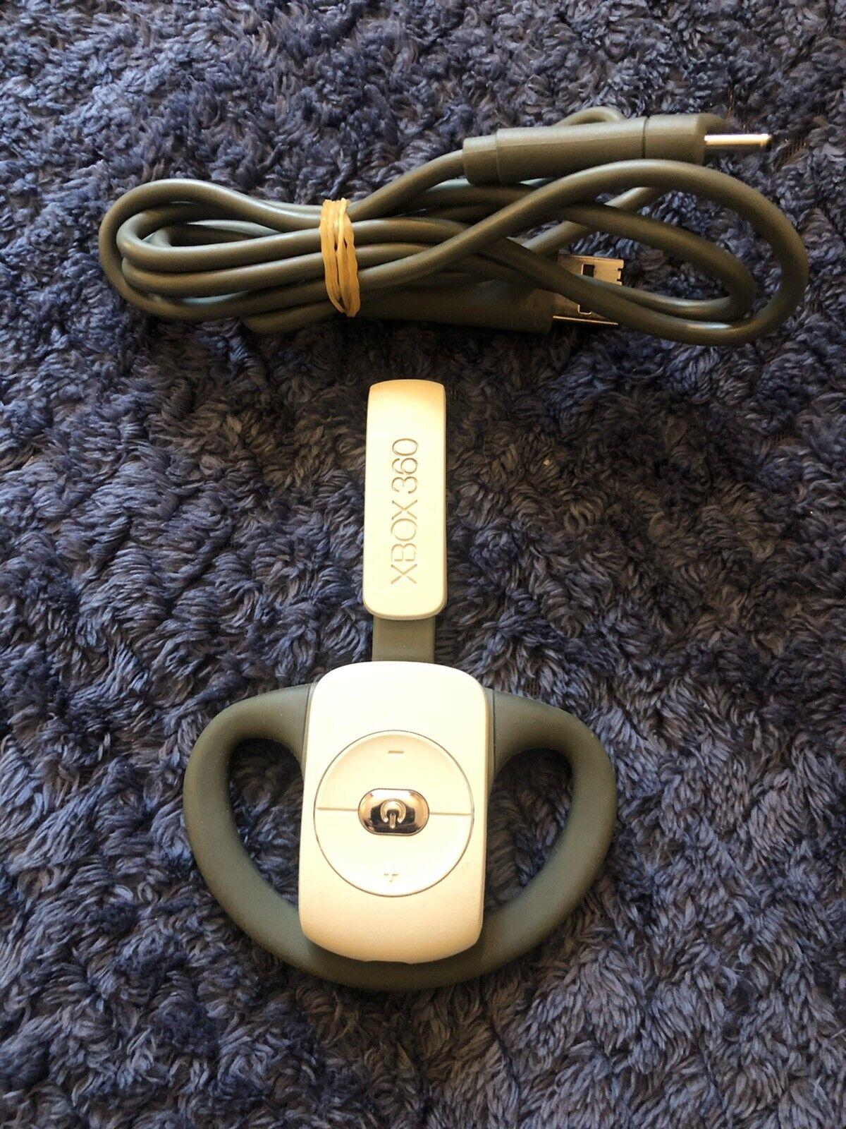 Genuine Microsoft Xbox 360 Wireless White Chat Headset Earpiece Mic
