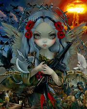Jasmine Becket-Griffith art print military fairy gun SIGNED Unseelie Court: War