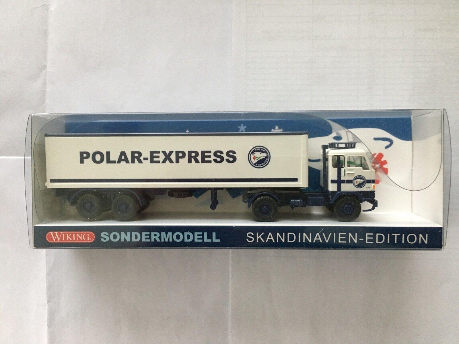 Wiking Werbemodell Polarexpress Volvo Kühlkoffer SZ