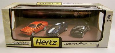 2011 CAMARO CHALLENGER R//T 2012 MUSTANG GT HERTZ ADRENALINE 3 PACK GREENLIGHT