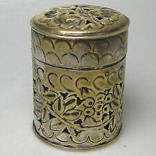 Dekorative, alte Messing Duftdose Dose Dekodose Schmuckdose ca. 9 x 7,5 cm