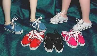 """Flat Foot Cissy SLIM  58mm WHITE Lo Back Sneakers fit 14/"""" Kish DOLL Shoes"""