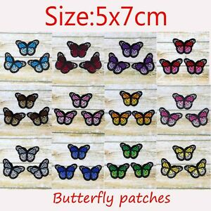 2-10-Butterfly-Sew-Iron-On-Patch-Cloth-Embroidery-Applique-Fabric-Badges-Patches