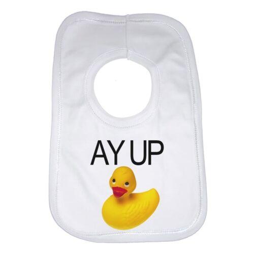 Pato Amarillo De Goma Funny Personalizada Bebé Babero Unisex gran idea del regalo Ay
