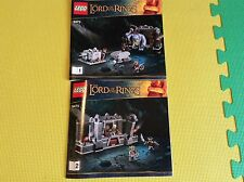 New Lego Instruction Manual ONLY Lord of the Rings Mines of Moria 9473 Both Book