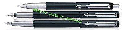 Parker Vector Standard CT Combo Roller Ball + Ball Pen + Fountain Pen Black Body