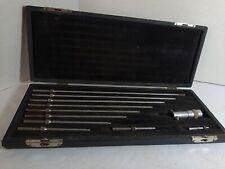 Vintage Ls Starrett Inside Micrometer Set With Case No 124