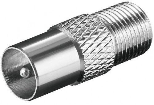 koax koaxial adapter iec stecker/ sat f buchse kupplung verbinder kupfer version