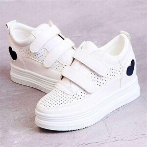 Women-039-s-Casual-Shoes-Hidden-Wedge-Fashion-Sneaker-Summer-Platform-Oxfords-Boots