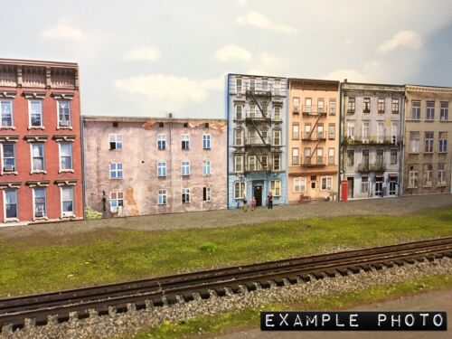 """*O Scale Scratch Built /""""APARTMENT #2/"""" w//LED Building Front Flat MTH Lionel NEW!"""