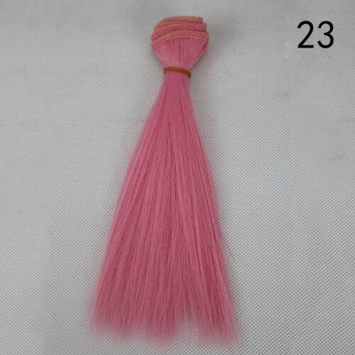 Süße Puppen Perücke Haar für 1//3 1//4 BJD DollfieDolls DIY machen Zubehör