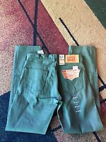 Mens Levi Strauss Levi's Jeans 501 Straight Button Fly Shrink To Fit