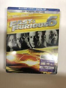 Fast Furious 6 Steelbook Blu Ray Dvd Digital New Best Buy Exclusive Ebay