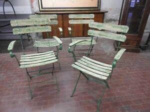 Sedie Francesi Da Giardino : Sedie in ferro da giardino liste in legno verdi francia ee