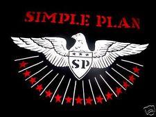 MENS SIMPLE PLAN EAGLE STAR BLACK T SHIRT-M