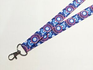 Handmade Pink Flamingos Double Sided 1.5 Wide ID Lanyard with a 1 12 inch Lobster Claw Clasp or Clip