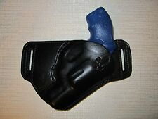 TAURUS 85 38 SPECIAL,  LEATHER,SOB, OWB BELT HOLSTER, RIGHT HAND, SLIM DESIGN