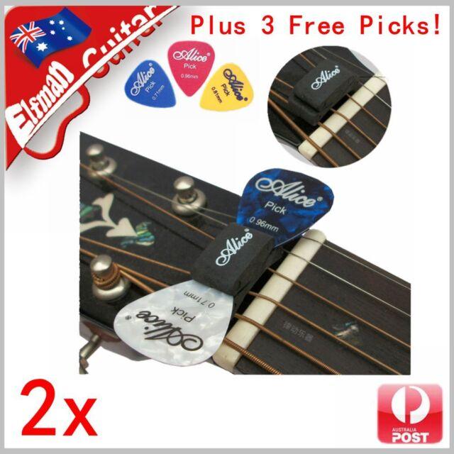 Guitar Bass Pick Holder Rubber Head Clip Alice Free Picks FAST AU POST