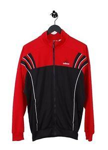 Détails sur Adidas Vintage Retro3 Rayures Zippé Piste Haut Rouge Hommes Veste USA M Go