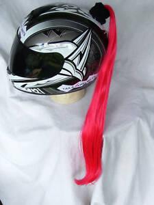 HELMET PONYTAIL   RED   ..MOTORCYCLE,SKATEBOARD or BIKE