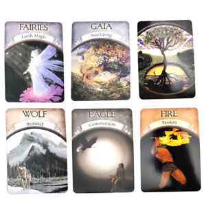 Magic-Oracle-Cards-Earth-Magic-Read-Fate-Tarot-48-card-Deck-And-Guidebook-Set-X4
