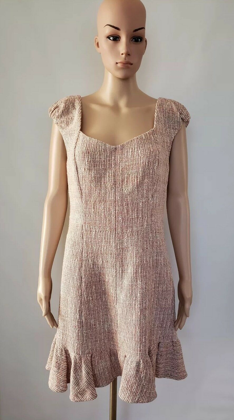Rebecca Taylor Women NWT Pink Tweed Dress Size 12