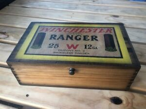 Details About Winchester Ranger Vintage Wooden Ammo Box Id 2 78