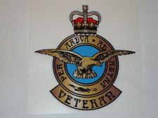 "2 X  RAF  VETERAN STICKERS 4"" AIRFORCE  BRITISH ARMY  BADGES MILITARY INSIGNIA"