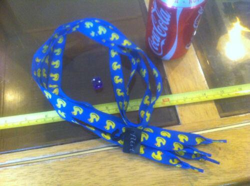 Duck Duckie Bath Quack Blue Yellow Shoelaces Lases Laces Flirt New Shoe