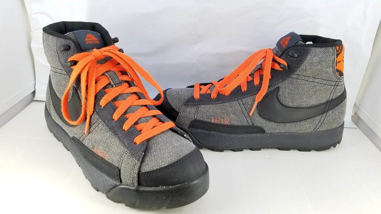 Nike air blazer acg metà uomini solare sz 8 324694-001  antracite / nero arancione solare uomini 2008 df28be