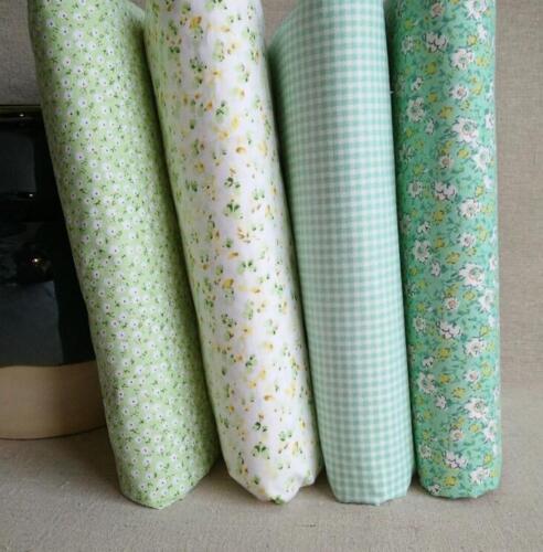 "DIY  Craft 4pcs Assorted Pre Cut Charm 10/"" Squares Quilt Cotton Fabric green"