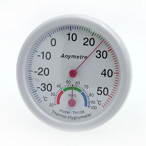 Thermomètre et Hygromètre Humidité Température Echelle de Mesure Jauge C