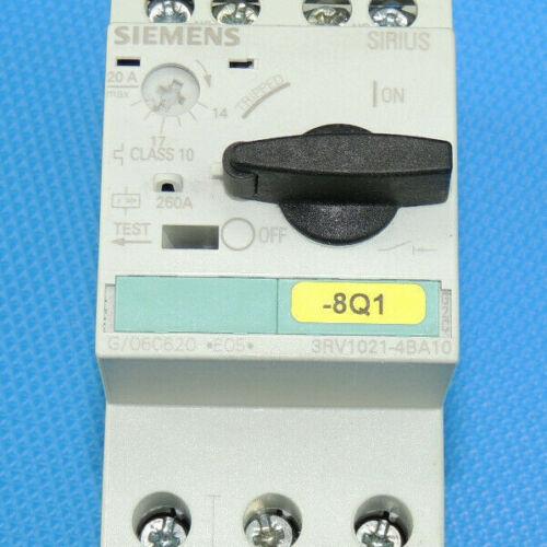 MwSt Siemens 3RV1021-4BA10 12-20A Motorschutzschalter  Inkl