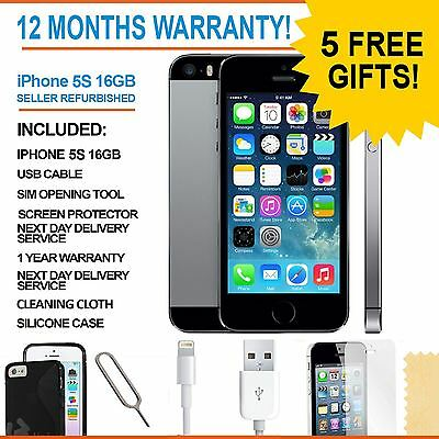 Apple iPhone 5s 16 GB - Space Grey - Sim Free Unlocked Grade A