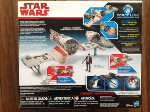 Disney Star Wars Ships: Poe/'s x-wing Cravate Silencieux ski Speeder Strike U Wing