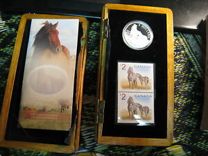 2006-Canada-Coin-amp-Stamp-Mint-Set-Horse-5-Silver-Gem