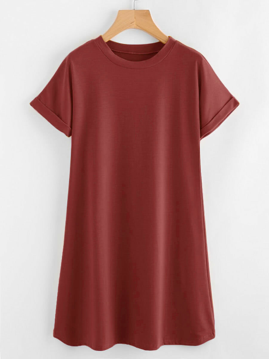 Boyfriend Basic T-Shirt Dress Choice Color/Size School