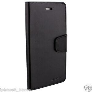 Genuine-MERCURY-Goospery-Black-Leather-Wallet-Flip-Case-Cover-For-iPhone-6-amp-6s