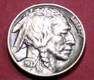 1937-P-XF-Fullhorn-Philadelphia-Mint-Double-Die-Reverse-Buffalo-Nickel-44
